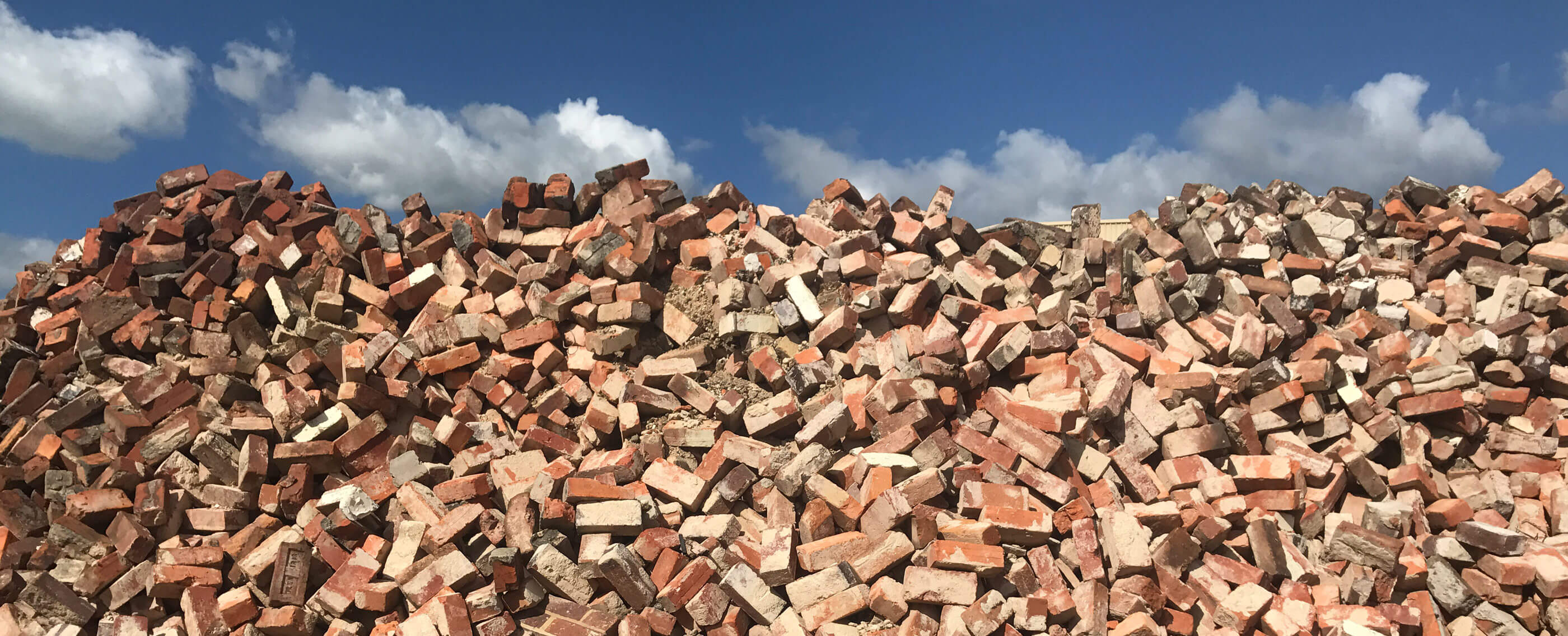 Old red bricks salvaged by Crosby Contractors